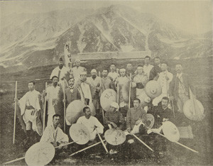 富山日報立山接待所記念写真